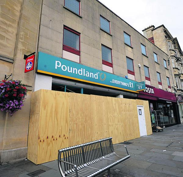 This Is Wiltshire: The Poundland store in Chippenham is boarded off