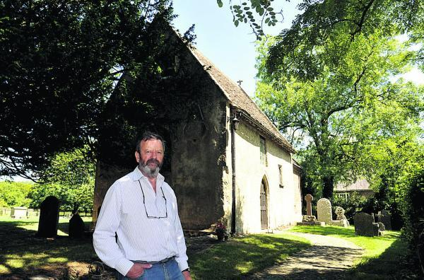 This Is Wiltshire: Michael Balston, chairman of the fundraising group for St Mary's Church, which has recently been awarded a Lottery Heritage fund grant                                                (SMB036/1) By Siobhan Boyle