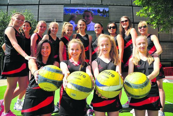 This Is Wiltshire: Pinehurst netball team at Wharf Green