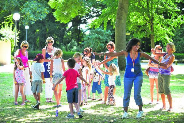 This Is Wiltshire: Children and parents take part in the event at Lydiard Park