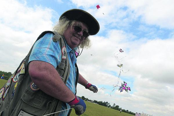 This Is Wiltshire: Godfrey Gamble at last year's Malmesbury Kite Festival