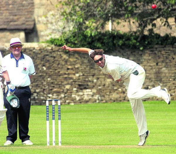This Is Wiltshire: Paul Robins claimed 3-20 as Corsham bowled out Weston-super-Mare for only 107 in their seven-wicket win at home last Saturday