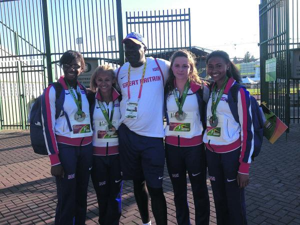This Is Wiltshire: Loren Bleaken, second from the left, with her silver medal winning teammates
