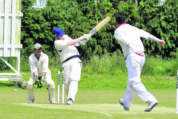 This Is Wiltshire: Trowbridge's Alex Hart (centre) has stepped down as captain