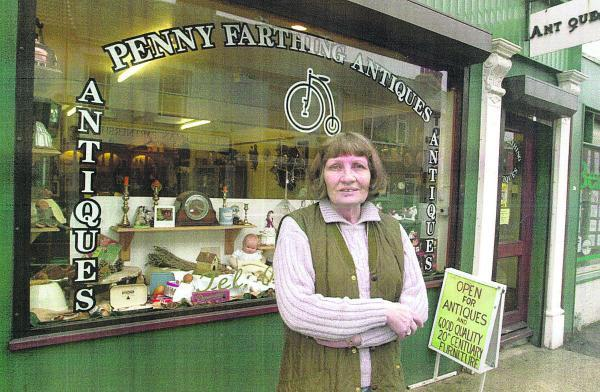 This Is Wiltshire: Ann Farthing outside her shop which she ran for many years in Victoria Road