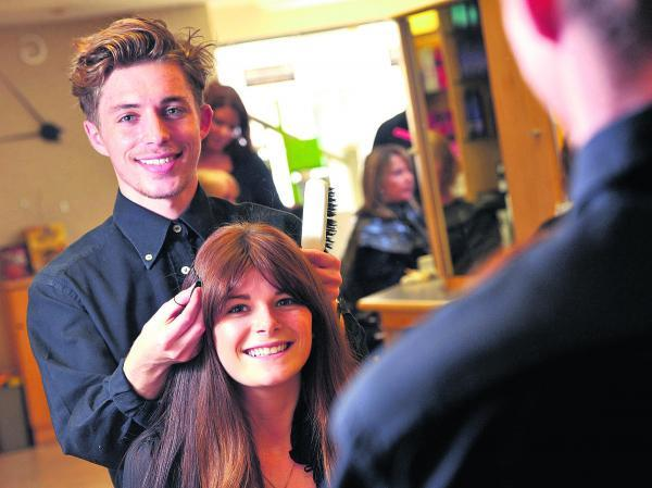 This Is Wiltshire: Hairdresser Joshua is doing it with style