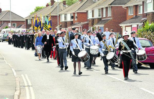 This Is Wiltshire: Yesterday's parade along Grange Drive
