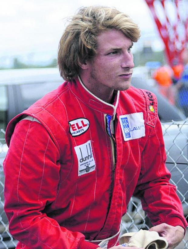 This Is Wiltshire: Freddie Hunt, son of 1976 Formula 1 world champion James Hunt, at Castle Combe on Saturday