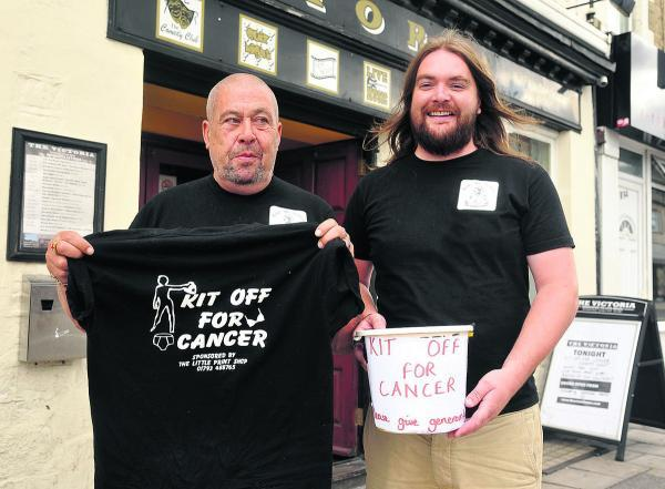 This Is Wiltshire: Roger Fairman, left, and Darren Simons, landlord of the Vic