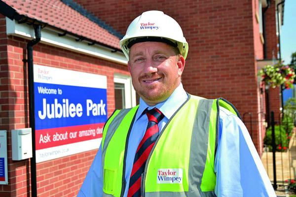 This Is Wiltshire: Robert Barry, site manager at the Jubilee Park development in Royal Wootton Bassett, has won a national housebuilder award