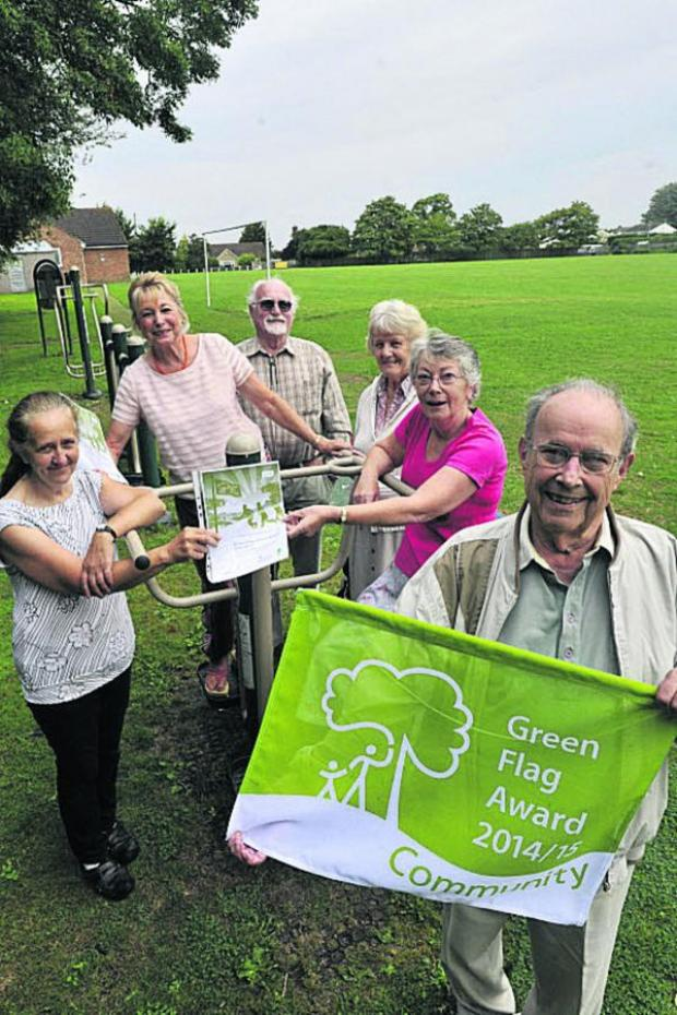 This Is Wiltshire: Pauline Baxter, Sue Hawker, John Denby-Gardner, Anne Crawford, Kay Thomas and Mike Holland celebrate