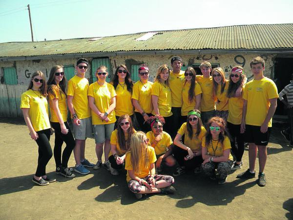 This Is Wiltshire: Students from New College who gave up part of their summer holidays to help at two schools in Kenya