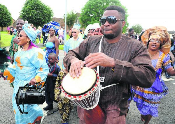 This Is Wiltshire: Revellers have fun at a previous Penhill Carnival