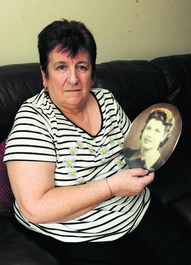 This Is Wiltshire: Glenys Kyte, with a picture of her mother, is looking for her long lost sister