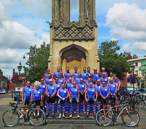 This Is Wiltshire: Devizes Town Cycling Club in a group photograph taken at the Ruth Pierce memorial