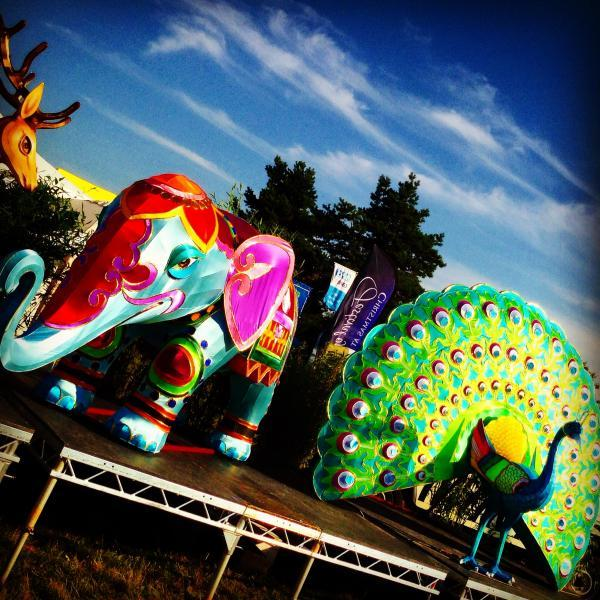 This Is Wiltshire: The display by Longleat Safari & Adventure Park at Bristol International Balloon Fiesta