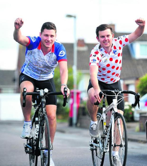 This Is Wiltshire: Mike Francis and Matt Luker rode from London to Paris in aid of the 160 appeal
