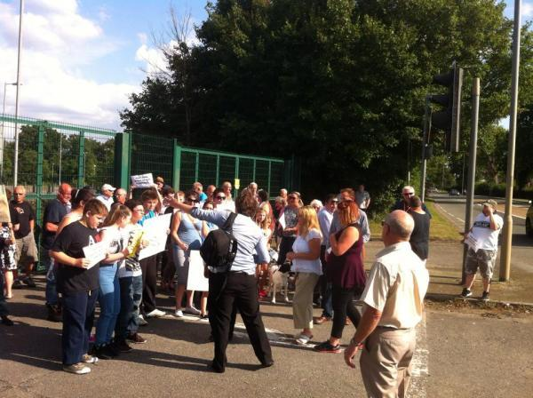This Is Wiltshire: Protesters meeting at former park and ride site
