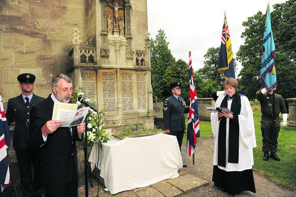 This Is Wiltshire: Churchwarden John Stott and the Rev Alice Memp at the service