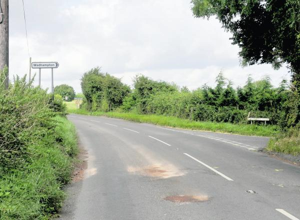 This Is Wiltshire: The scene of the fatal crash on the A