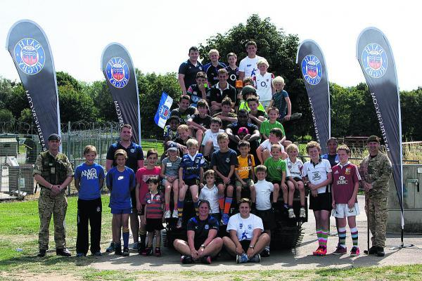 This Is Wiltshire: There were big smiles all round after two days of hectic rugby activities and fun times for children of serving Army personnel set up by Bath Rugby's community team