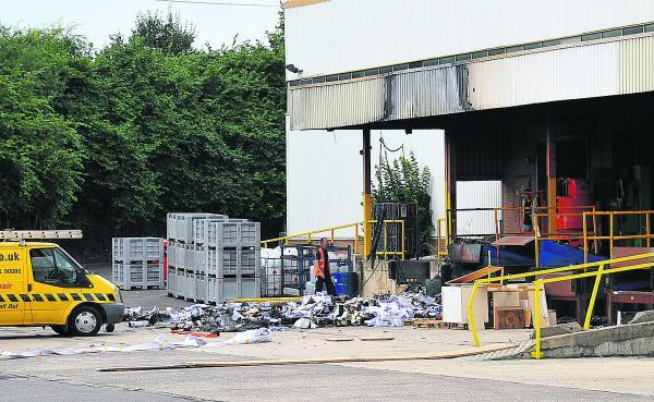 This Is Wiltshire: Multisets Print Solutions on Groundwell Industrial Estate, where paper was set on fire in the loading bay