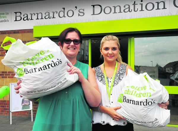 This Is Wiltshire: Carol Carmichael and Emma Boam at the new Barnardo's store