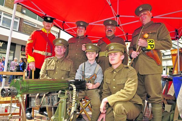 This Is Wiltshire: The Norfolk Regiment Living History Group at Wharf Green on Saturday