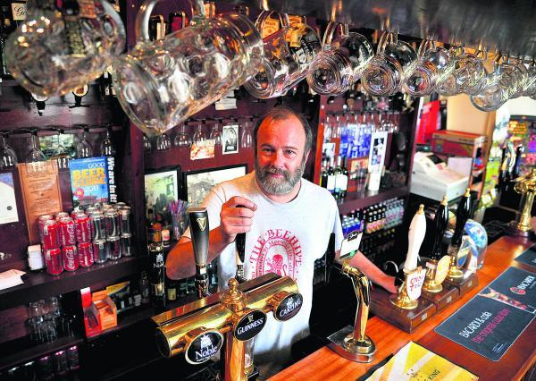 This Is Wiltshire: Andy Marcer, the landlord of the Beehive pub