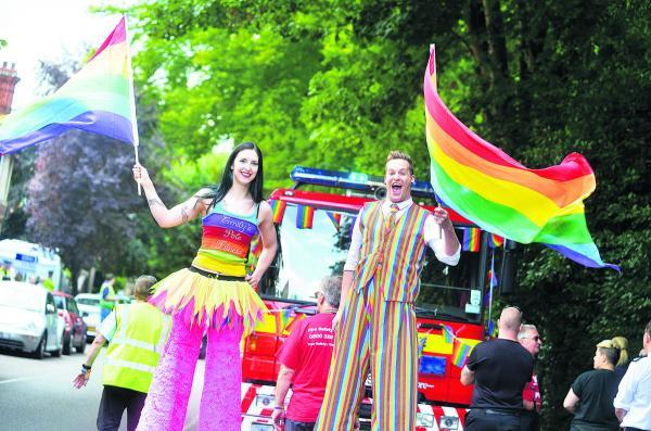 This Is Wiltshire: Gay Pride takes to the streets of Swindon