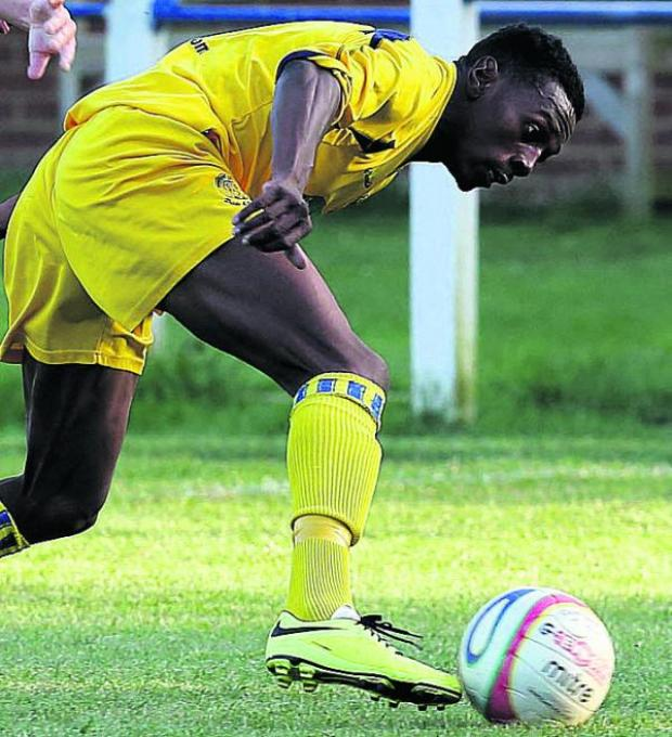 This Is Wiltshire: Substitute Omar Simpson struck in the second half of Chippenham's 2-0 win at Biggleswade
