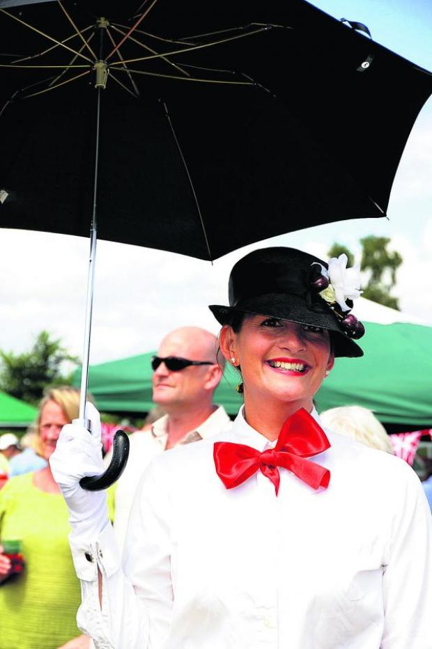 This Is Wiltshire: Seend Fete adult fancy dress winner Helen Hagelthorn. Picture by Paul Morris
