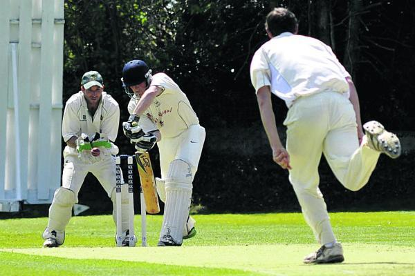 This Is Wiltshire: Ed Wilkins made 49 for Goatacre against Keynsham