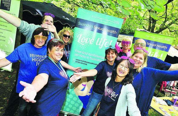 This Is Wiltshire: Getting the message out there – the team behind the sexual health tram at GWH'S stand at Pride Swindon, launching a new website