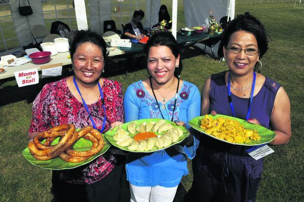 This Is Wiltshire: Bishnu Siris, Chandra Limbu, Samjhana Chhetri with some of their dishes