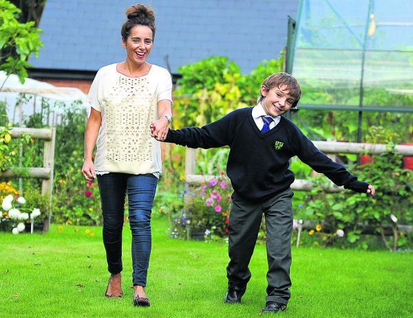 This Is Wiltshire: Luca Railton with his mum, Teresa