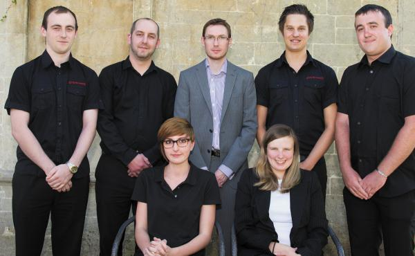 This Is Wiltshire: The Systemagic team, Will Barnes, back left, Chris Sweet, James Eades, Arran Bennett and  Nathan Painter. Front row , Emily Basford left and Hazel Eades