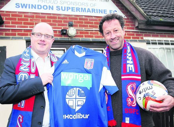 This Is Wiltshire: James Phipps, of Excalibur, which sponsors many sports in the town, including Swindon Supermarine, pictured with Supermarine  chairman Jez Webb