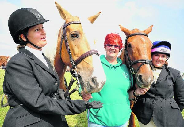 This Is Wiltshire: Steph Daly, Nic Davies and Demi Davies at last year's Cricklade Show