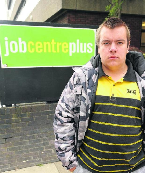 This Is Wiltshire: Ben McEachern, who says he is having problems with the Job Centre
