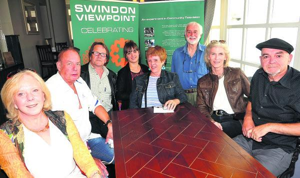 This Is Wiltshire: At the Swindon Viewpoint reunion are, from left, Lizzie Halfacre, Peter Knight, Rupert Kirkham, Hannah Parry, Hoppy Roy, Michael Barrett, Jigga Dunn and Martin Parry