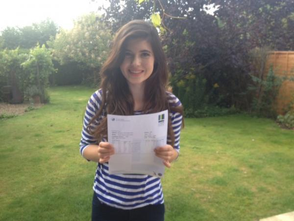 This Is Wiltshire: Izzy Payne celebrates getting three A* in English literature, English language and Classical Civilisation