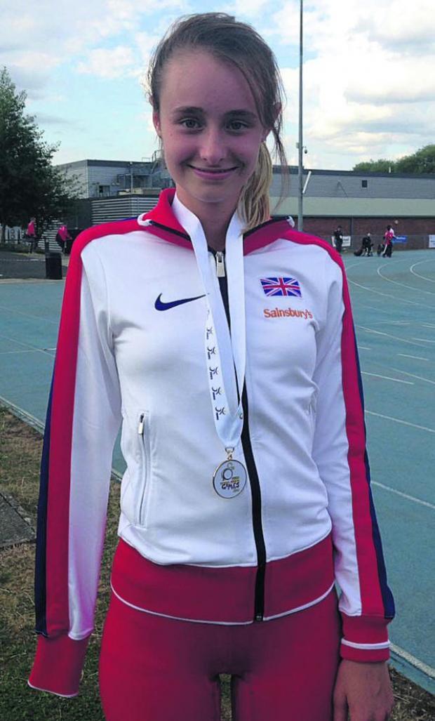 This Is Wiltshire: Polly Maton, from Urchfont, who won three gold medals at IWAS World Junior G