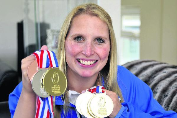 This Is Wiltshire: Stephanie Millward shows off her European Championship medals