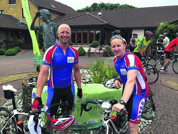 This Is Wiltshire: Devizes cyclists Andy Harper and Ben Gale raised money for Children's Hospice South West