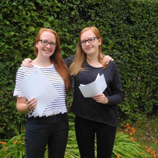 This Is Wiltshire: Identical twins Lara and Ella Bavinton received identical grades in identical subjects after studying at St Mary's, Calne, and both got into their first choice of university