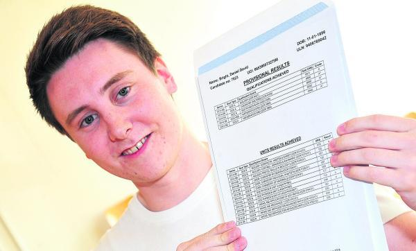 This Is Wiltshire: Daniel Bright, of St Joseph's Catholic College, who achieved three A* grades and an A and is going to read chemistry at Oxford University