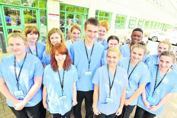 This Is Wiltshire: Students take part in the Dare To Nurse course at GWH Academy