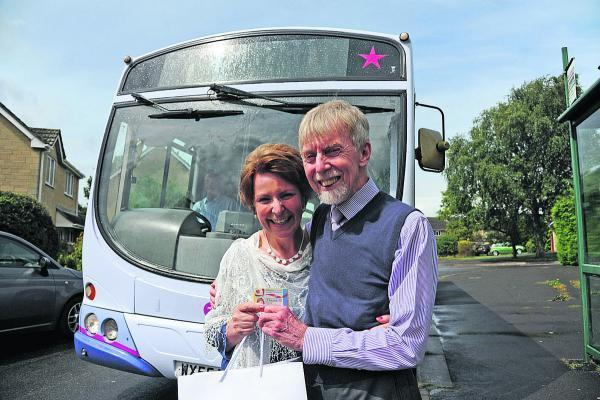This Is Wiltshire: Love is just a bus ride away as Winsley couple use their passes to get hitched