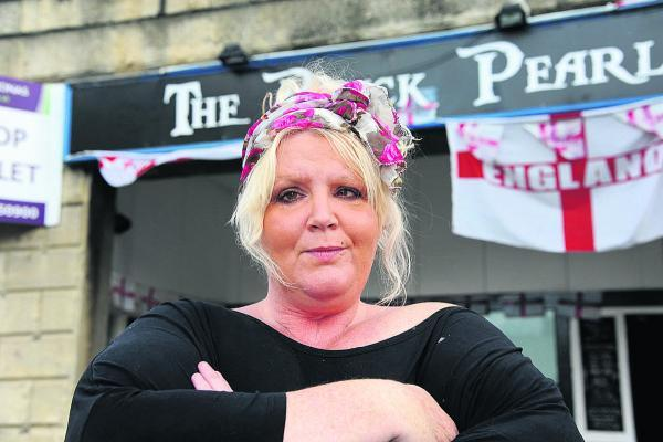 This Is Wiltshire: Landlady Tammy Newbury outside The Black Pearl – her food is considered 'legendary' Photo: Trevor Porter (50190)